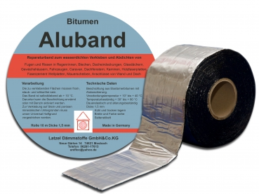 Bitumen Aluband 150 mm - Rolle 10 Meter
